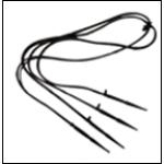 Набор спиц прямых с трубками
